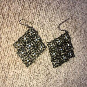 Jewelry - Diamond shaped earrings